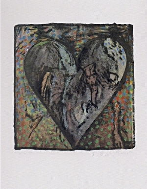 Jim Dine, The Hand Colored Viennese Hearts VI