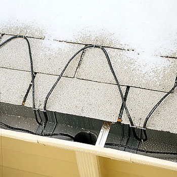 Heating cables help water to flow during cold temperatures.