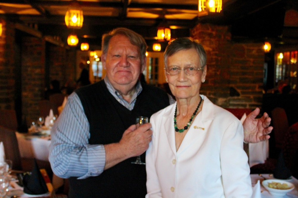 Broadcaster Ted O'Reilly (left) and Ken Page Memorial Trust founder Anne Page Galloway (right) at the Ken Page Memorial Trust Gala - Oct. 2015.