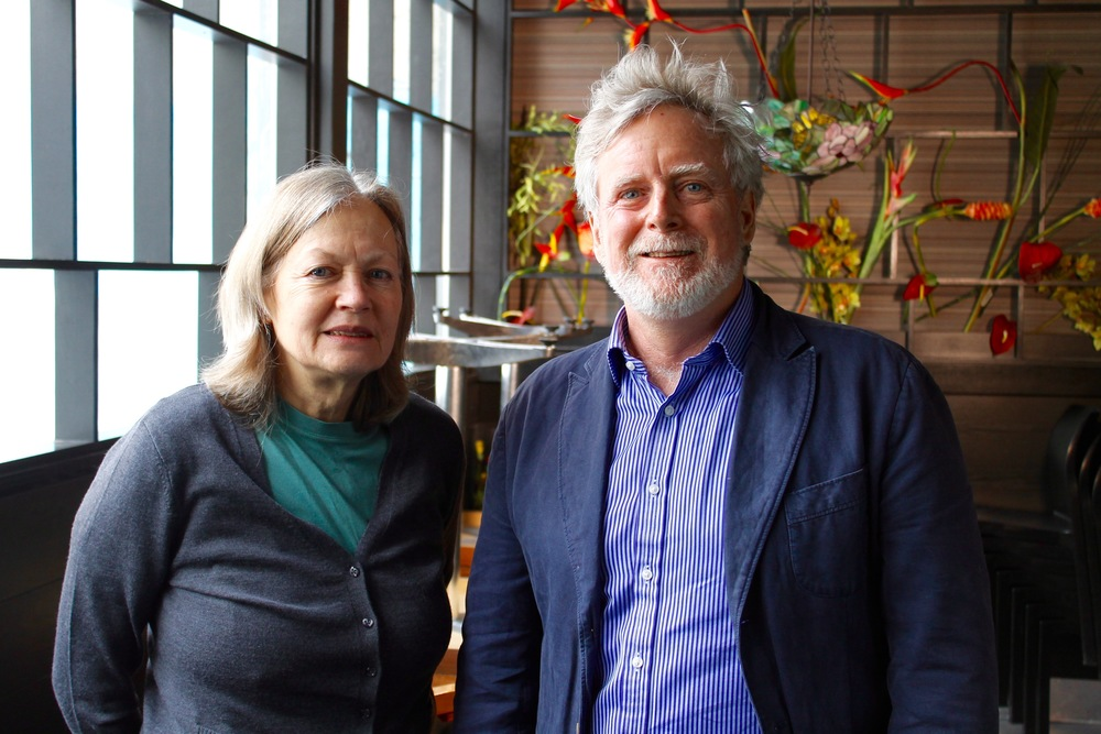 Bassist Rosemary Galloway (right) with Galloway film Producer/Director James Cullingham (right)  - Mar. 2016
