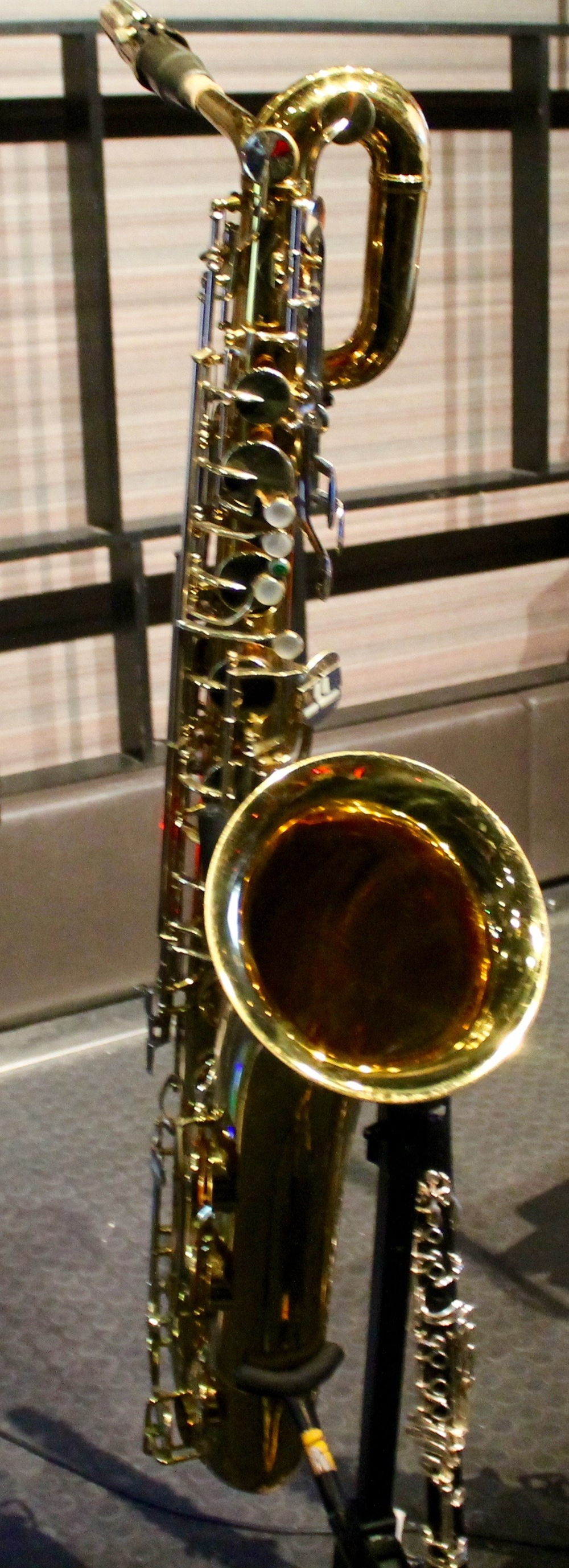 Jim Galloway's baritone sax at the 120 Diner in Toronto, which is now owned and played by jazz musician John MacMurchy - Mar. 2016