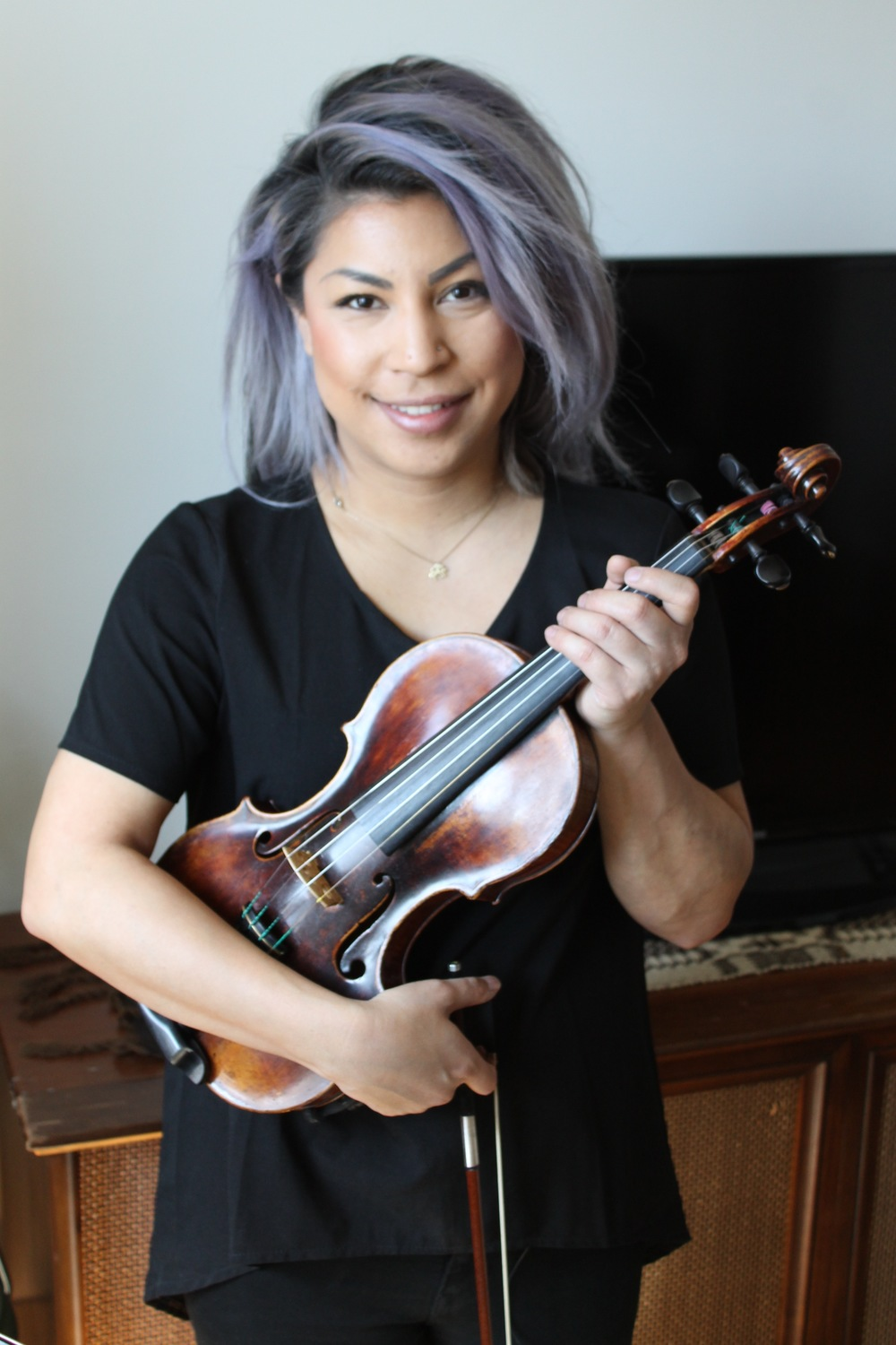 Singer, violinist and musician Maya Killtron - Apr. 2016