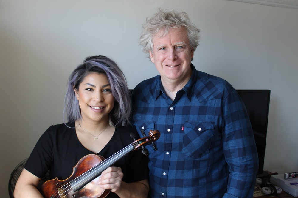 Singer, violinist and musician Maya Killtron (left) with film producer/director James Cullingham (right)  - Apr. 2016