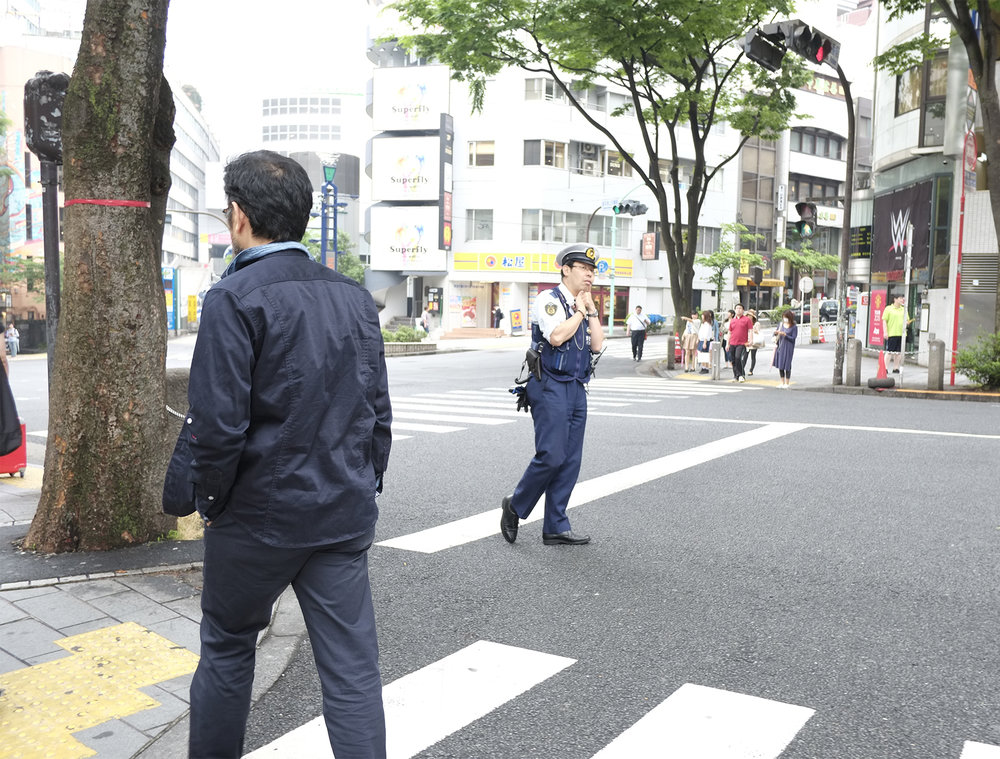 Policeman, Shibuya , 2015, Digital Photograph
