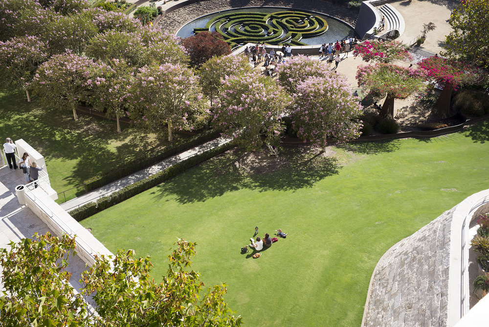 People Near Garden at The Getty Center , 2016, Digital Photograph,