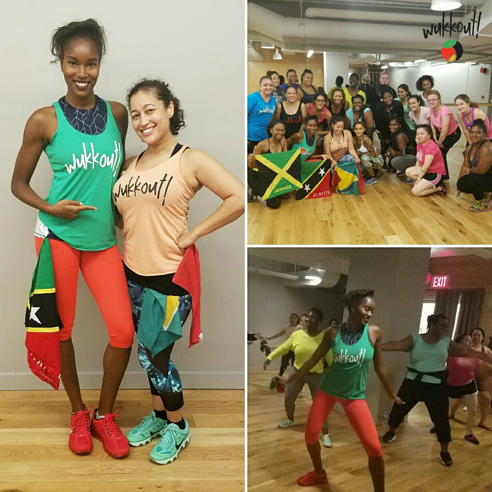 HUGE thank you to everyone who came to our first two classes this month.  You really brought the fete to life!  Also a special shoutout to  Damaris Lewis  for coming to Wukkout! with us.  St. Kitts represent!!