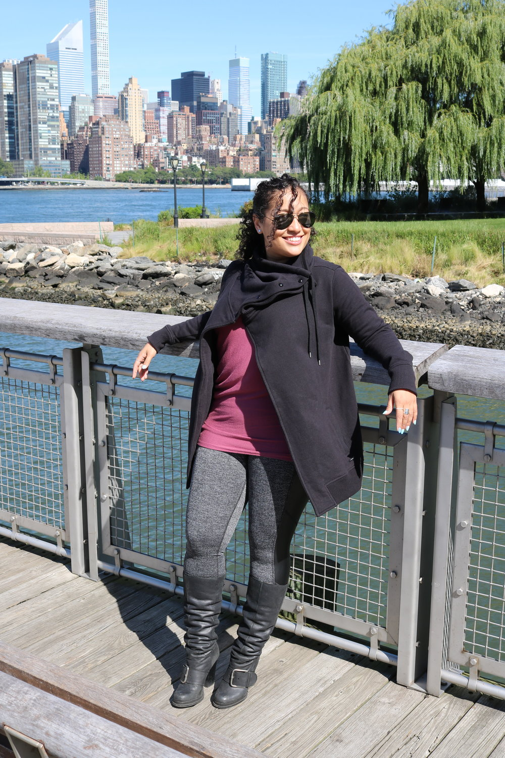 Check out Athleta Ambassador & Wukkout!® Founder, Krista Martins, rocking the latest Athleta line.  Get the look here:  Herringbone Luxe Metro Drifter Tight ,  Threadlight Asym Relaxed Tee ,  Wrapper's Delight Jacket .
