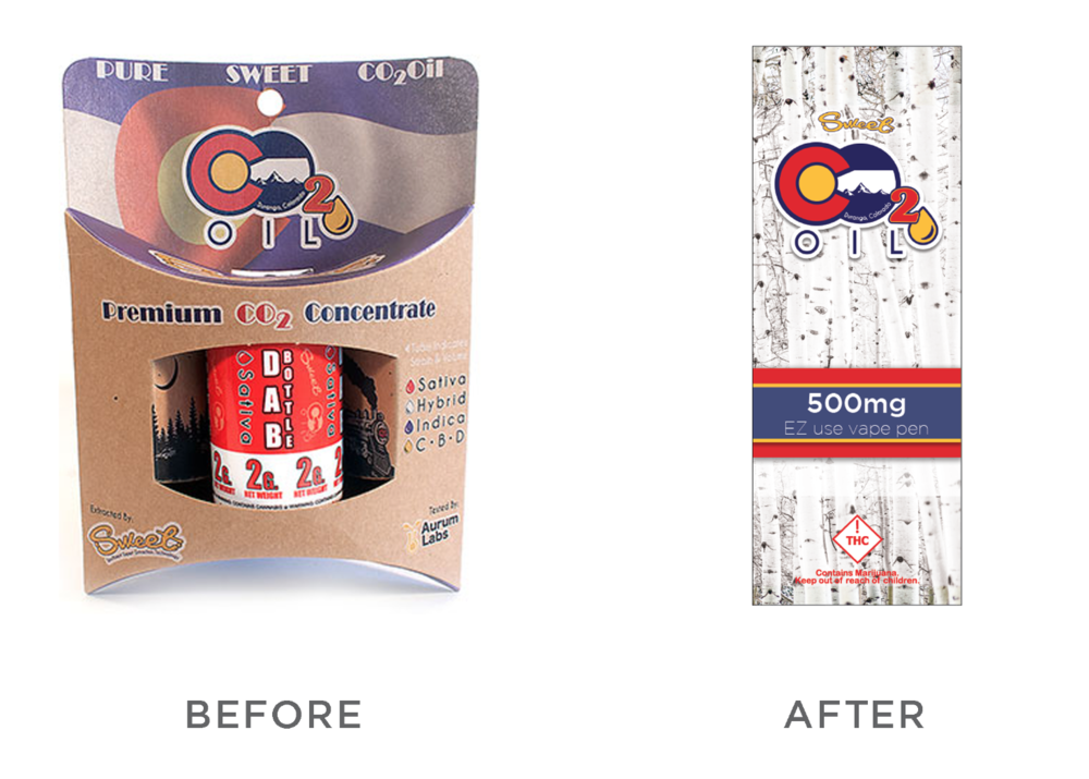 SWEET CO2 Package Redesign - SWEET CO2 (Colorado) asked for a new child-resistant package that could be displayed easier in dispensaries.