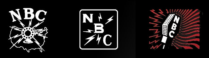 These NBC logos date from 1926, 1931 and 1942