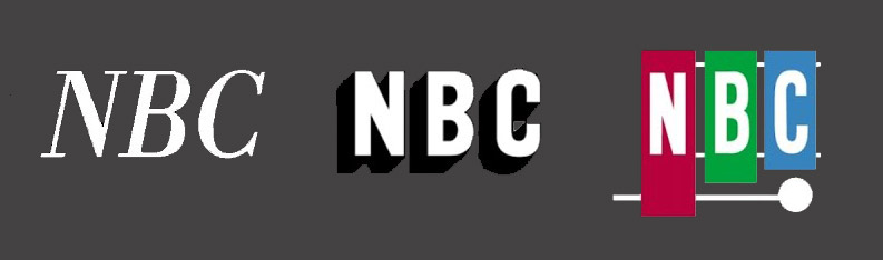 NBC logos from 1946, 1952 and 1954