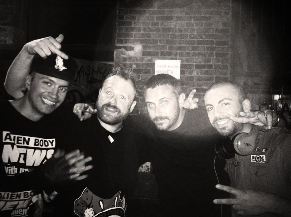 (l-r Pictureplane, Sole, Jeremy Scahill & DJ Pain 1)