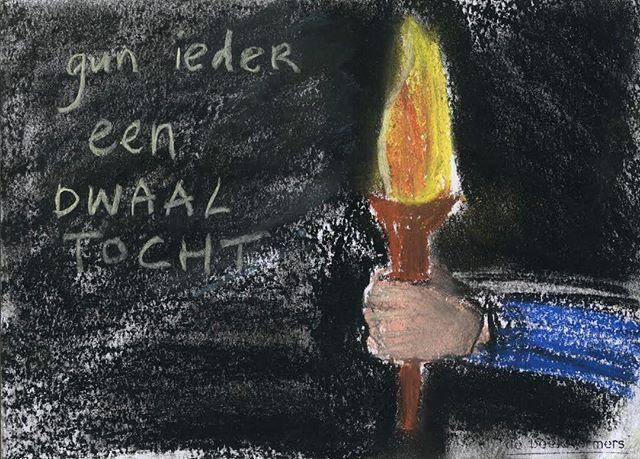 'Gun ieder een dwaaltocht' #kendewereld #amstelland #debeeldvormers #basisonderwijs #gunnen #waarbenikmeebezig #waarheen #koers #welkekantop #lichtindeduisternis #grenzenaftasten #ondervinden
