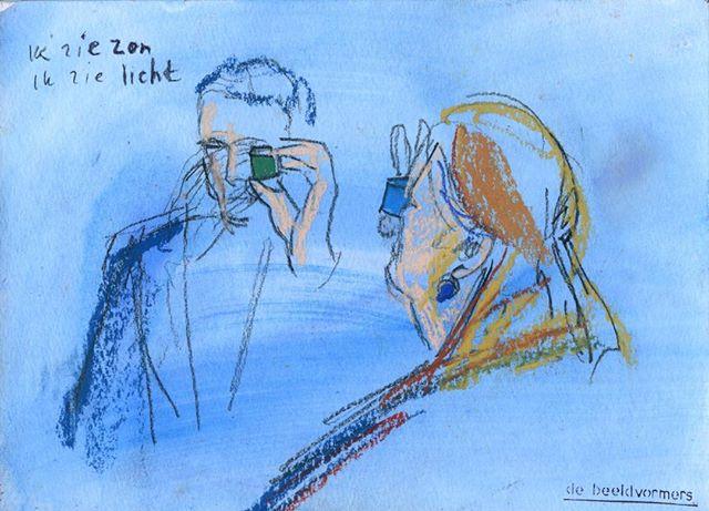 'Ik zie licht' #debeeldvormers #horizoncollege #artpartner #bergen #blooming #ikzieikziewatjijnietziet #iseethelight #iseethesun #intothebox #differentviews #visie #pastelonpaper #ispywithmylittleeye