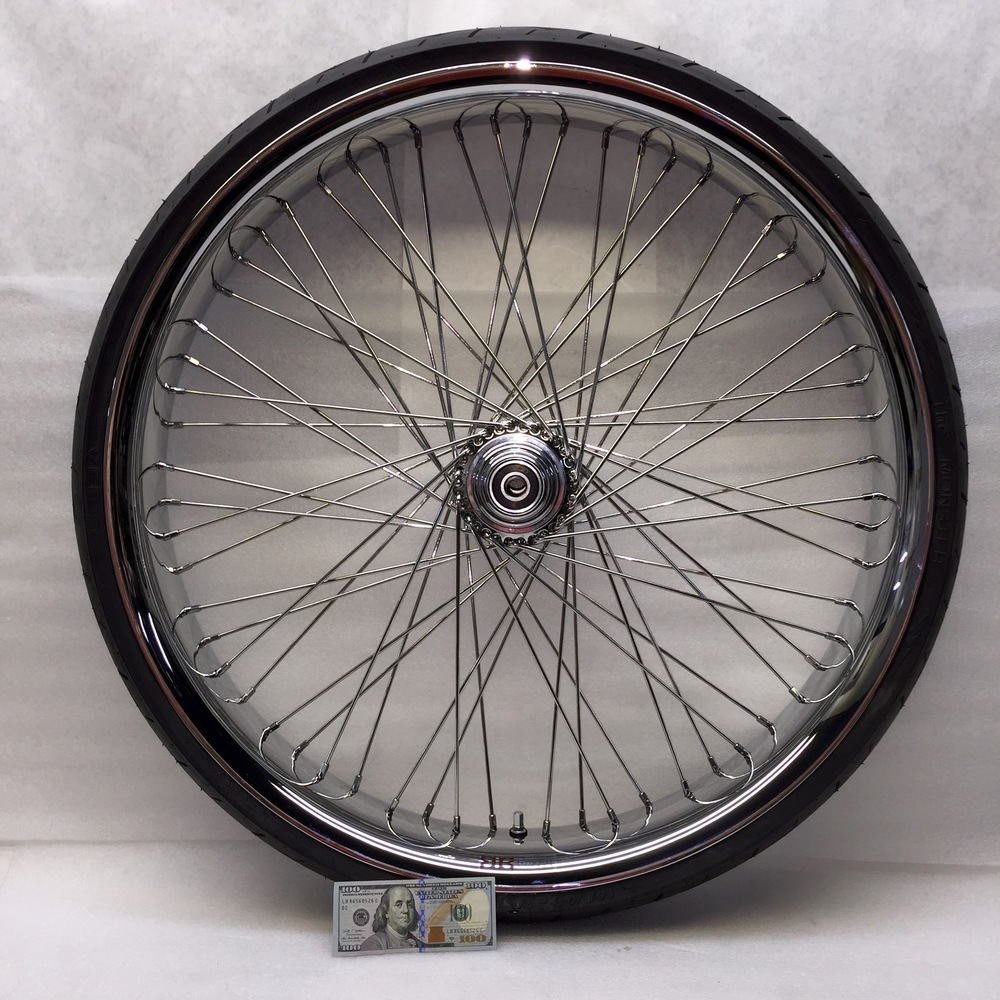 30x4 60 Chrome Profile Rim w/ Tire