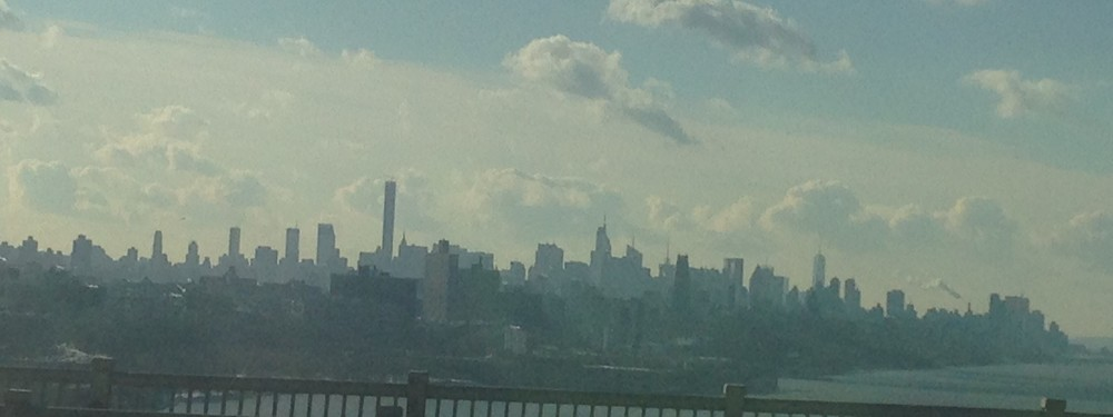 The view from George Washington Bridge is also beautiful - even on a hazy winter day.