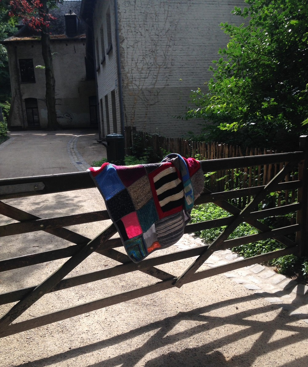 WWKIP blanket on gate.JPG