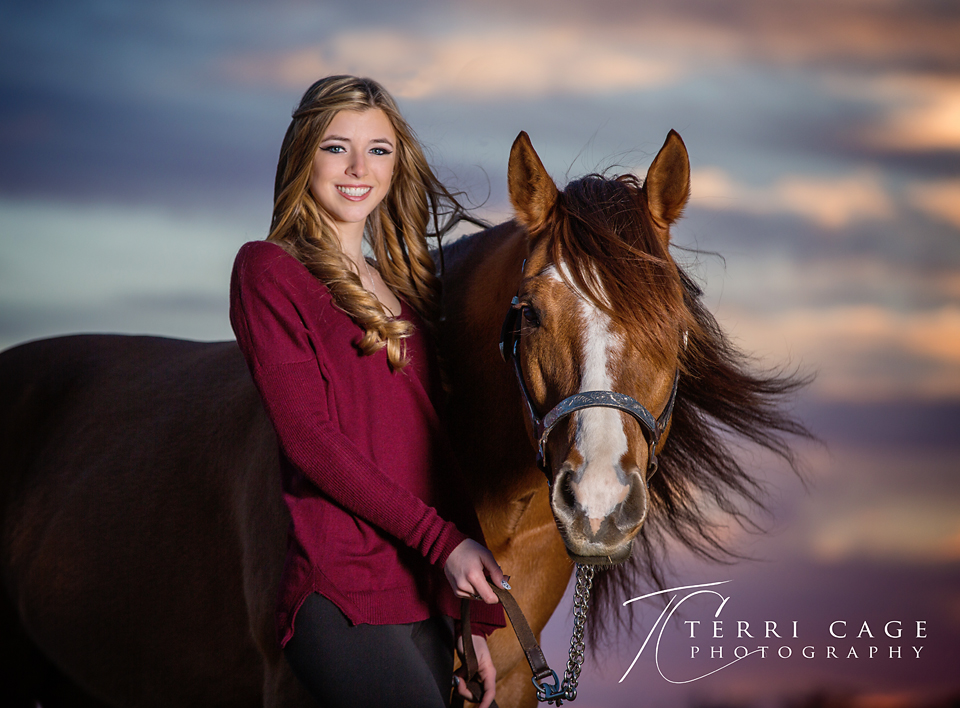 Senior with horse photo