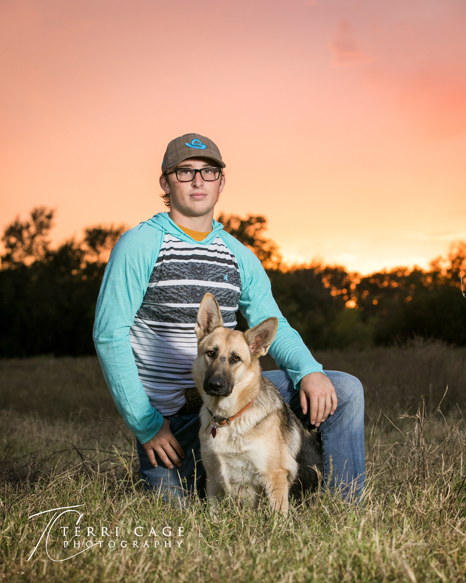 senior pictures with dog, german sheprard