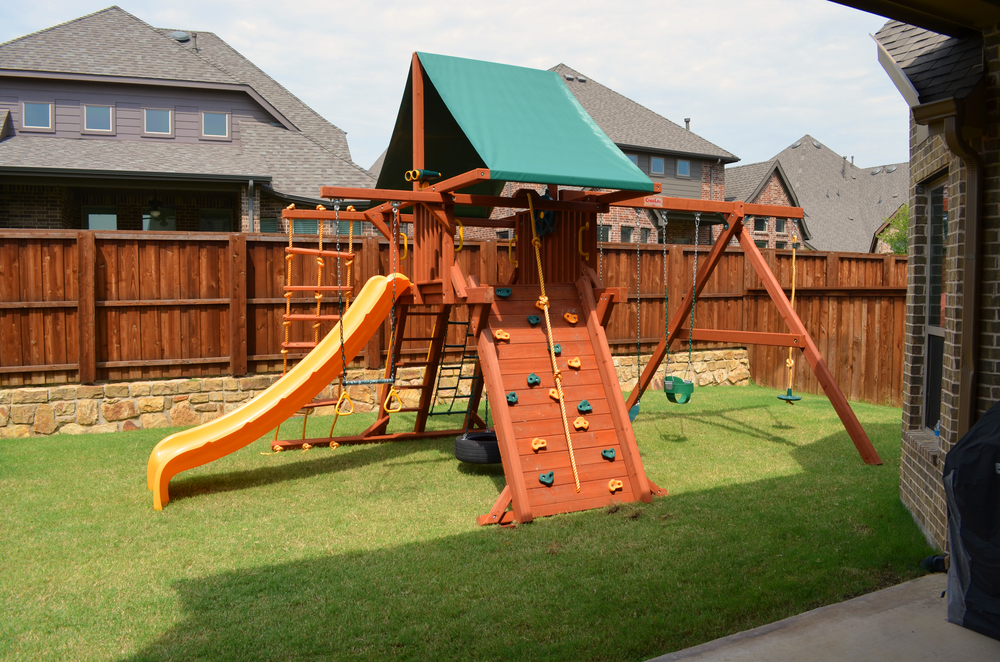 The new playset for the backyard