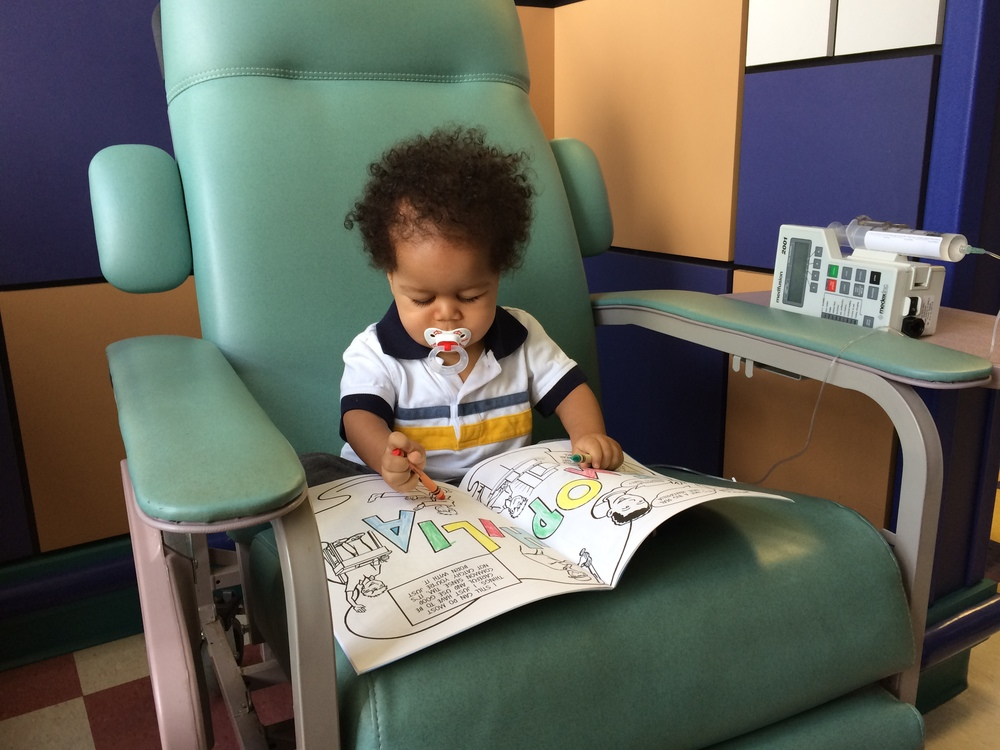 Day 39: The start of the consolidation phase of his chemotherapy