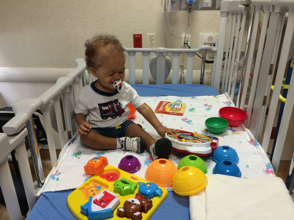 Day 77: Getting ready for his transfusion