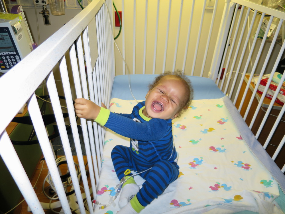 "Day 119: Such a happy boy.  This is what I get, when I say ""smile Elliott!""."