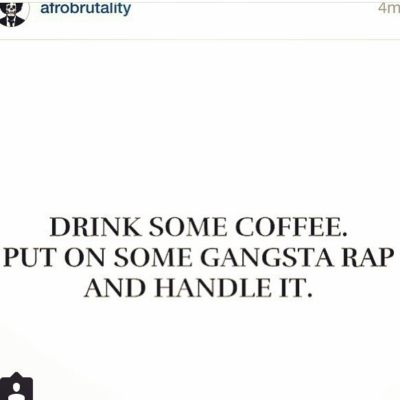 Good morning- How I'm feeling this morning....And probably every morning. :) wake up and handle it! Early morning grind! #leaderlifefitness #nycpersonaltrainer #nyc #quote #quoteoftheday #rap #gangstarap #nyctrainer #nyccrossfit #gainz #rap #listen #wakeup #grind #gogetit #getup #handleit #gm #alive