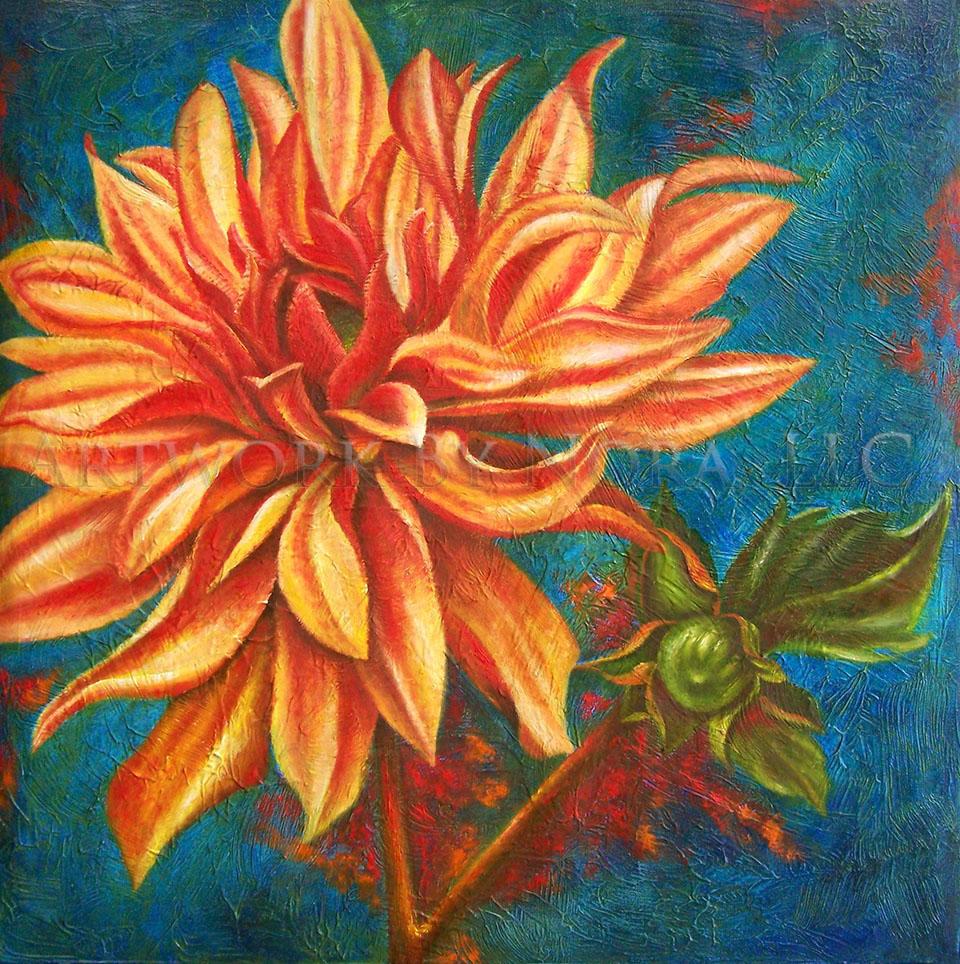 Orange Dahlia II