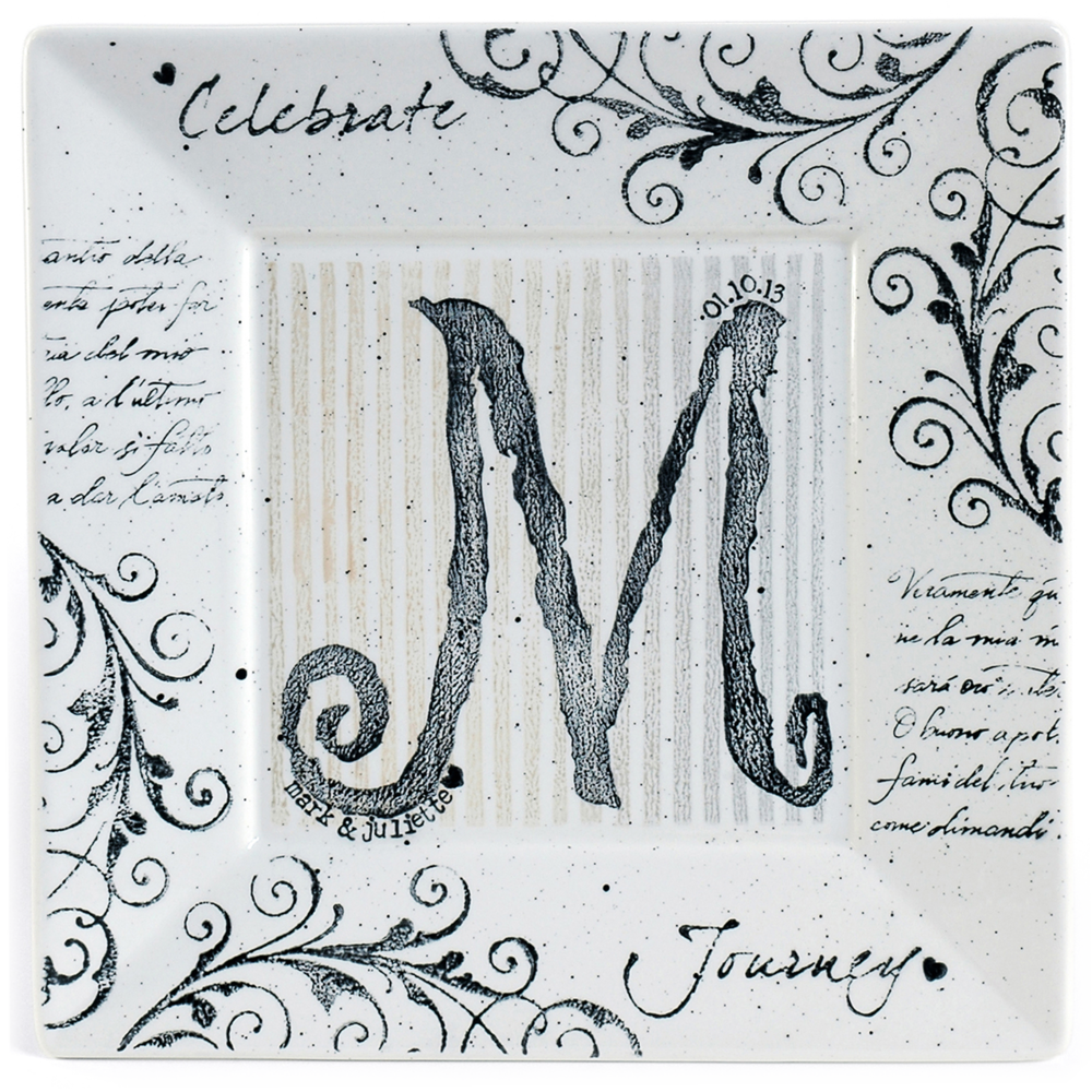 Monogram Wedding Platter