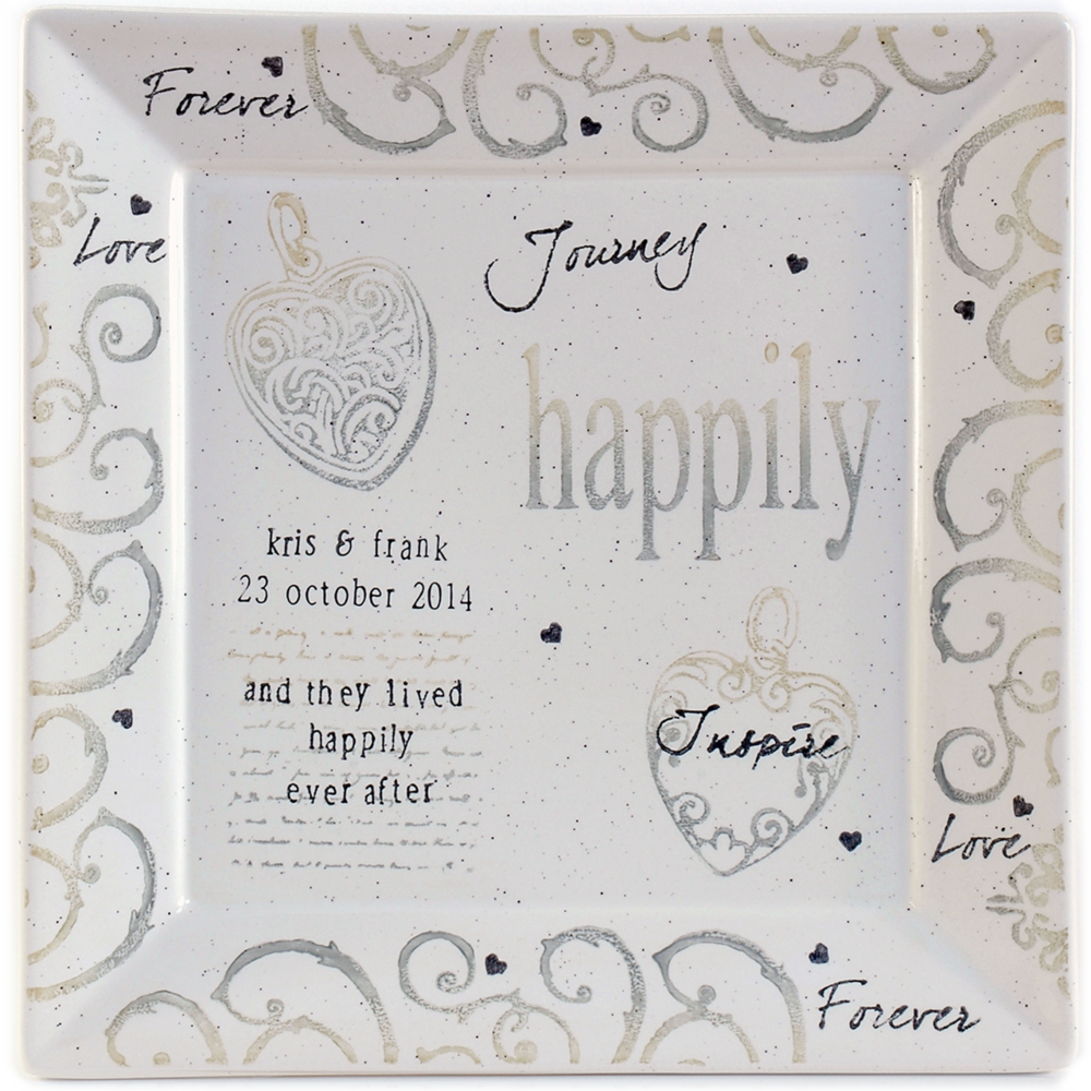 Happily Ever After Wedding Platter