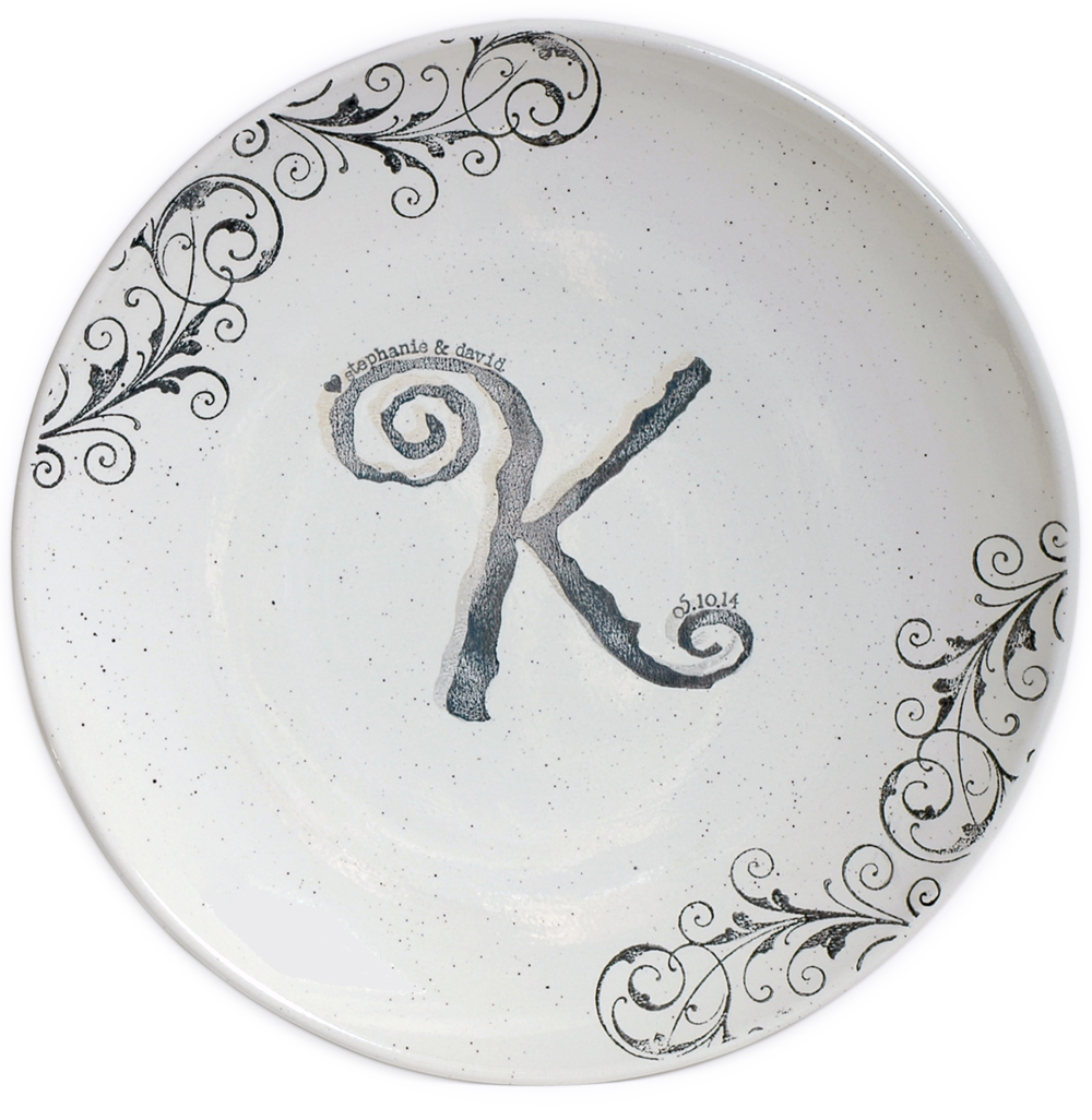 Monogram Guest Book Platter
