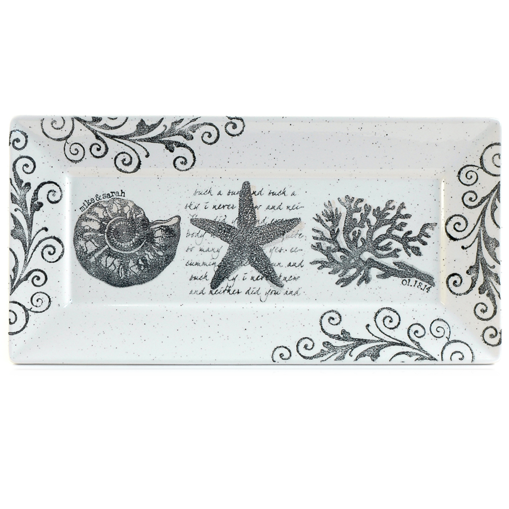 Coastal Wedding Rectangle Platter