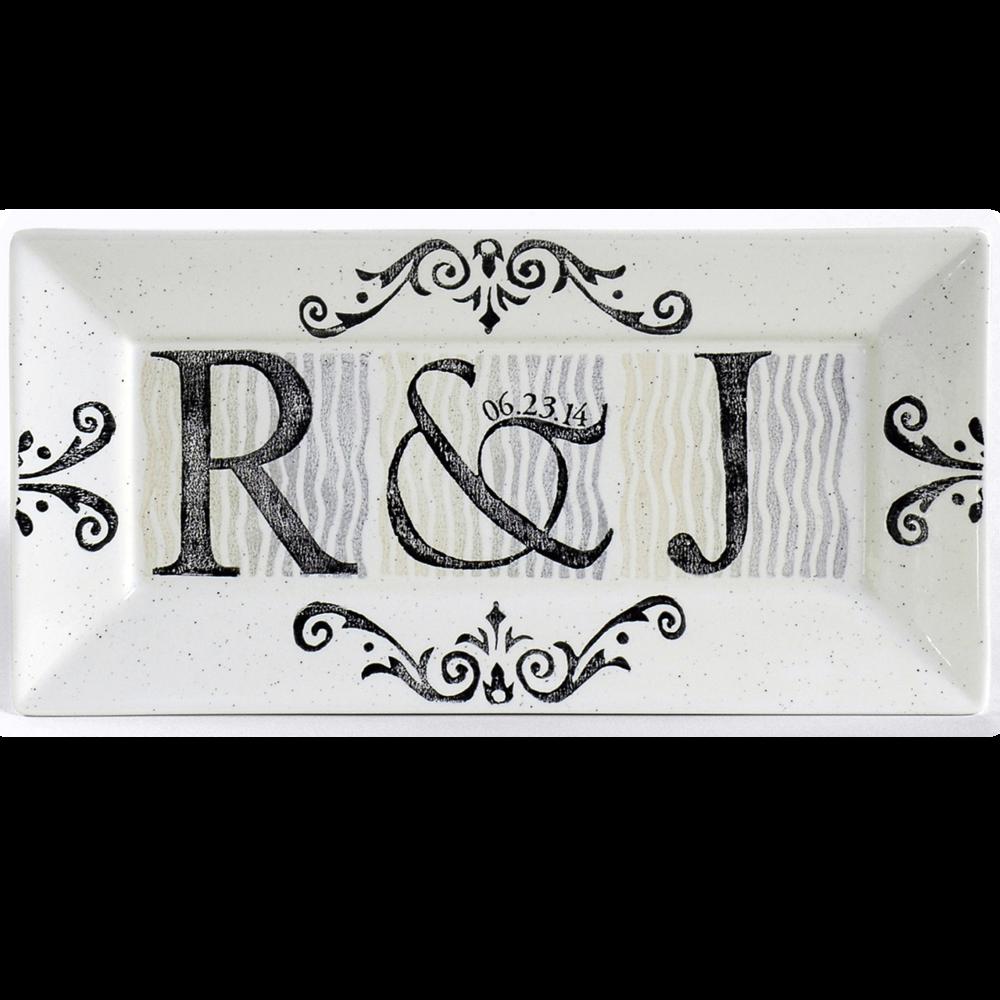 Initial Wedding Platter