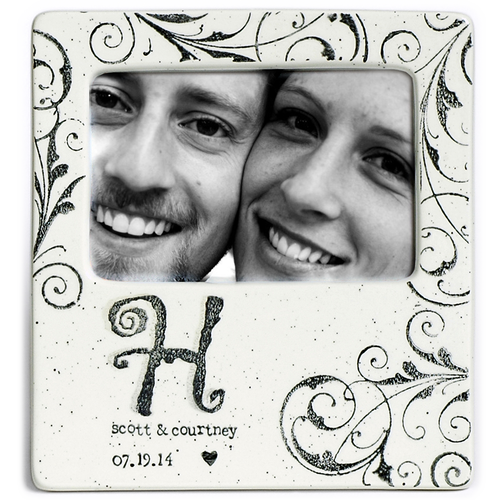 Monogram Wedding Photo Frame