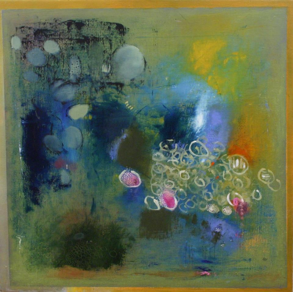 spring garden/hydrangia blue