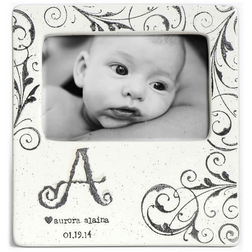 Monogram Baby Photo Frame