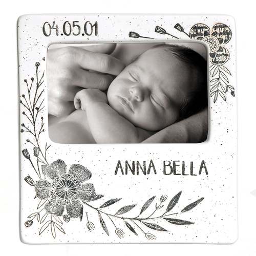 Flower Baby Message Frame