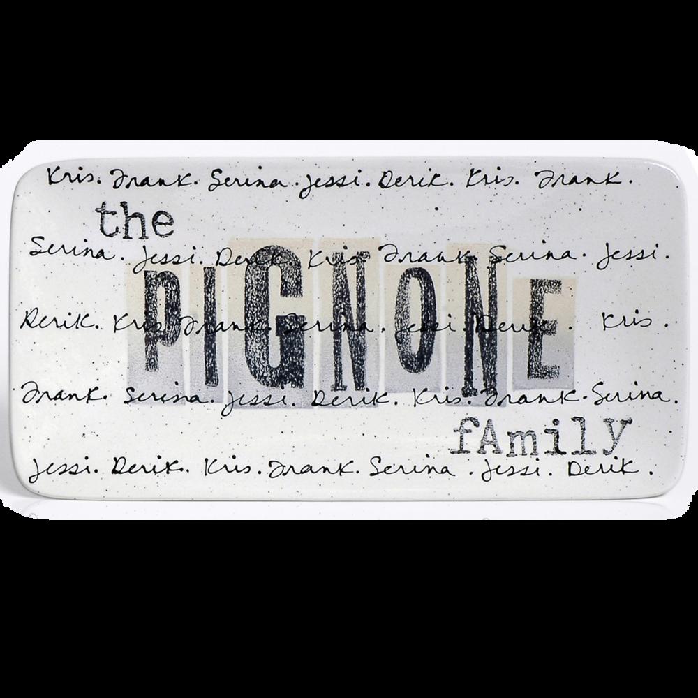 Cursive Family Plate