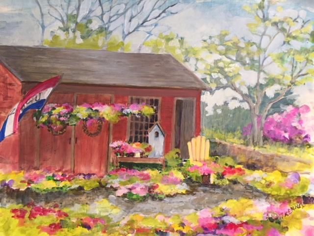 Flower Shop, Fluid Acrylic:clayboard, Susan Scott Kenney,16 x20, $375.JPG