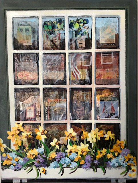 Nantucket Bookstore, Mixed Media, Susan Scott Kenney, 24 x18, $475.jpg