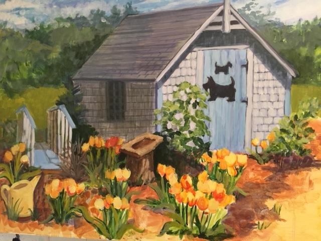 Scottie House, Fluid Acrylic:Clayboard, 16 x 20, $325 Susan Scott Kenney.JPG