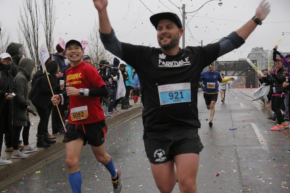 James Koka running the GoodLife Toronto Waterfront Marathon Photo: Daniel Bach