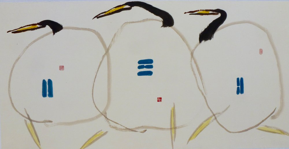 three birds, 54x27""