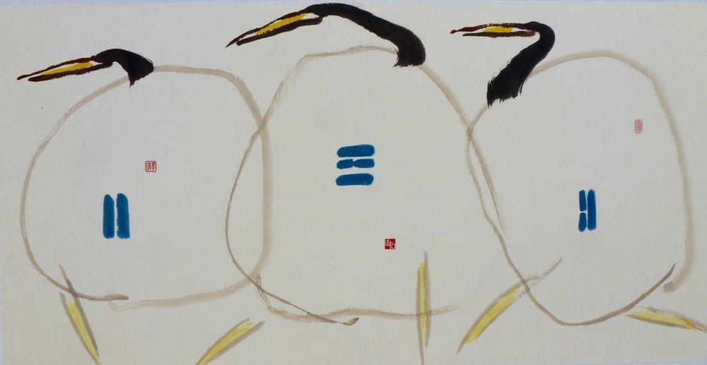 """three birds, 54x27"""""""