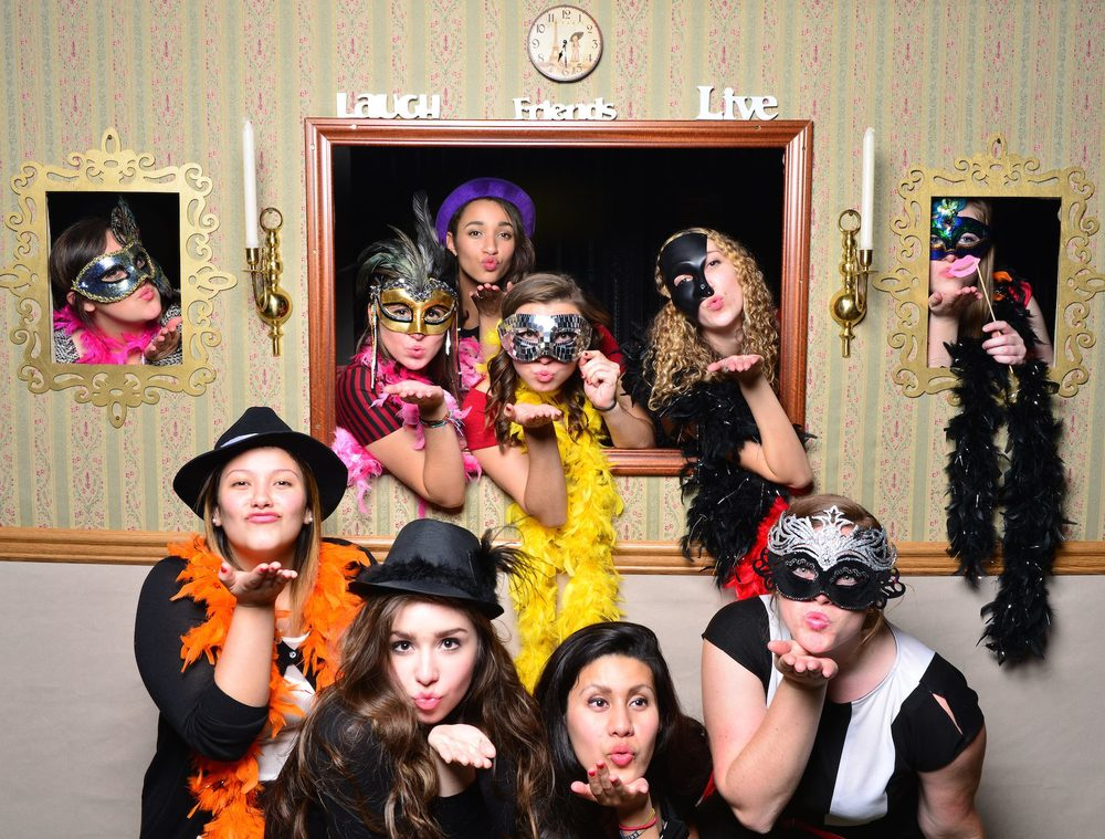 Having fun at the photo booth at Megan and Brent's wedding, October 18th!
