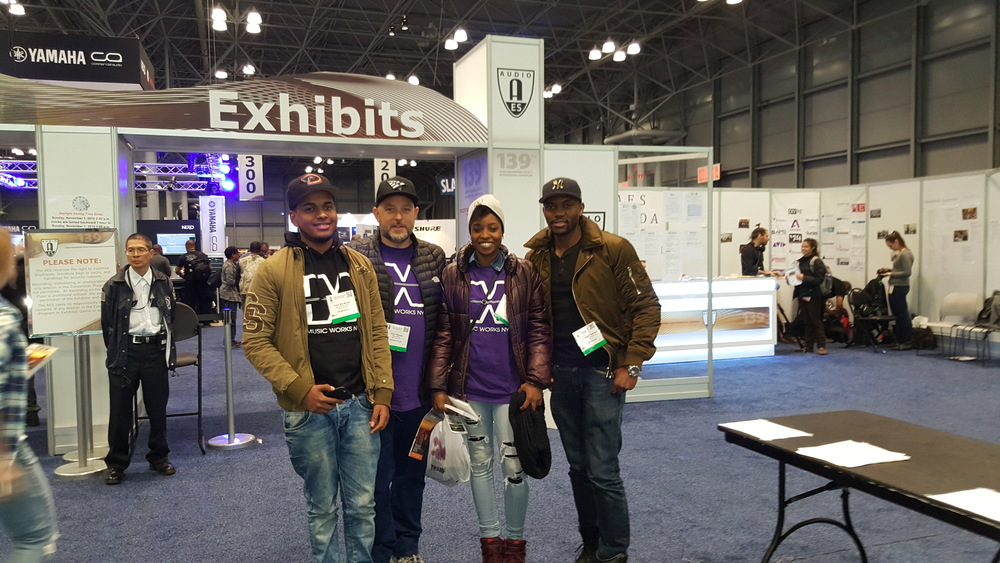 Music Works team  at the  Audio Engineering Society Convention,  Javits  Center NYC