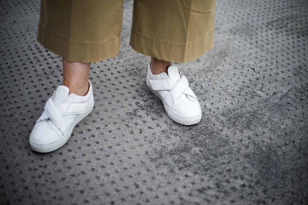 carven white trainers