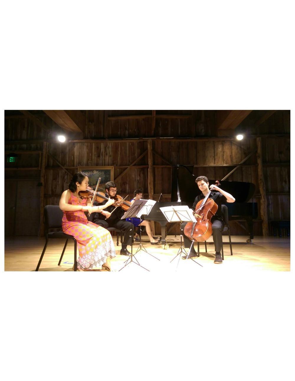 Performing Martinu Piano Quartet No. 1 at Garth Newel Music Center