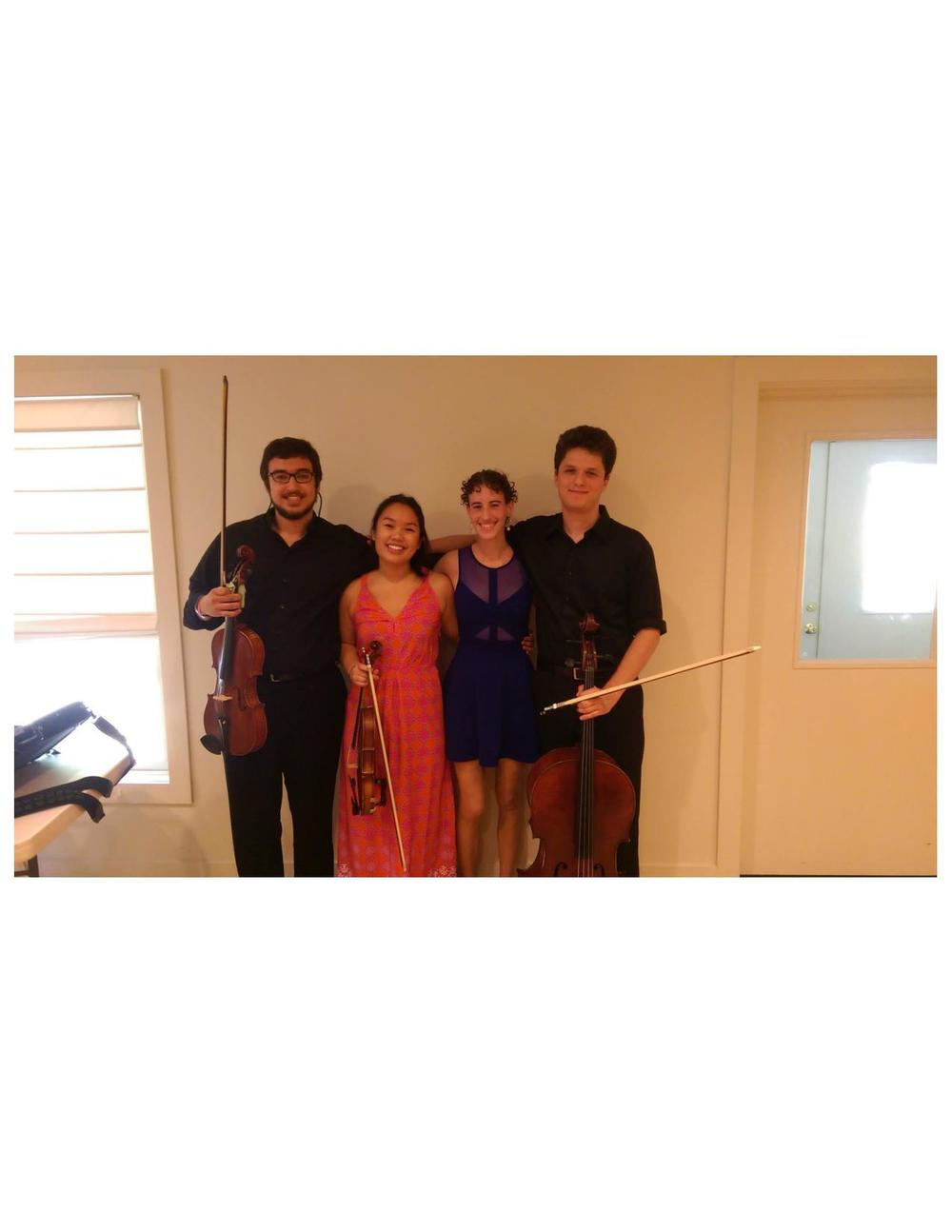 Pictured from left to right:  David Phillips, Courtney Chang, Moriah Trenk, Graham Boswell
