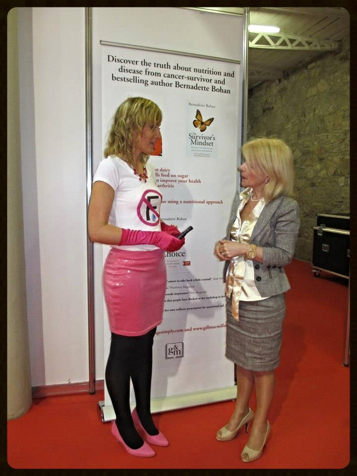 Aisling meets Bernadette Bohan at the Rude Health Event in the RDS Dublin